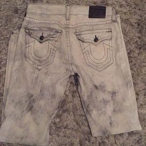 Men True Religion Jeans size 32 Color grey